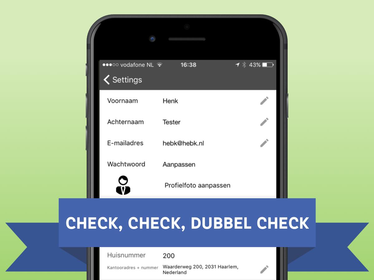 Check je gegevens in de Livemobility app