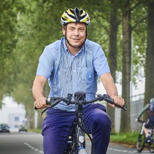 Christiaan Lievers fitst met Beter op weg